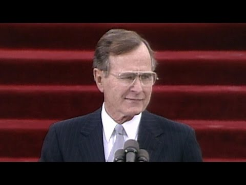 George-H.W.-Bush-inaugural-address-Jan.-20-1989