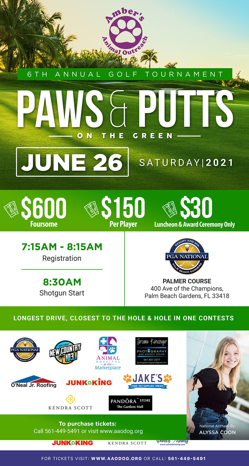 Paws & Putts - flyer